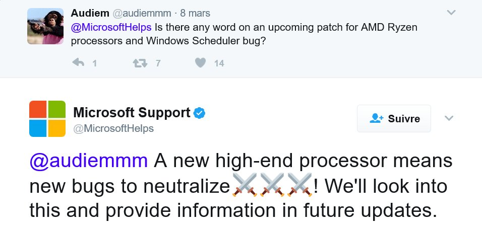 Tweet support Microsoft